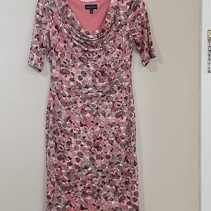 Connected d pink and tan color dress size 12 U5